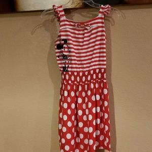 Red and White Girls Dress